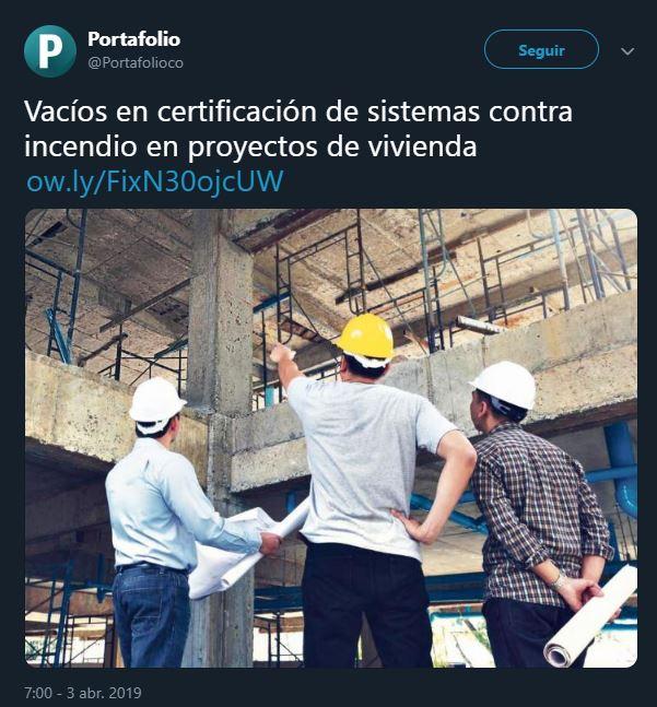 Vacíos en certificación de sistemas contra incendio en proyectos de vivienda