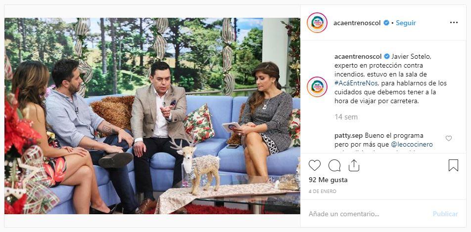 Javier Sotelo en Canal Uno
