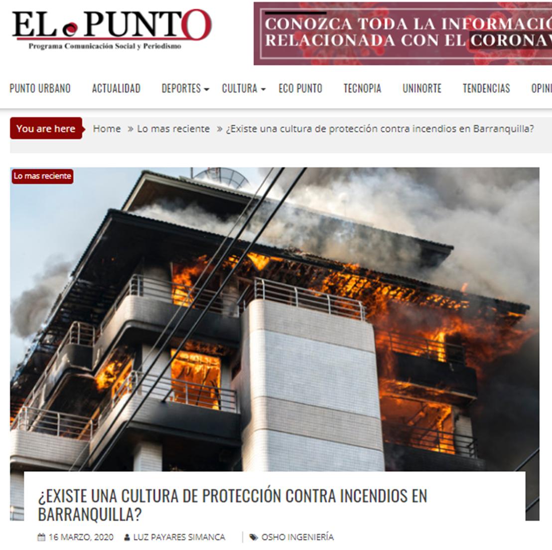 ¿Existe una cultura de protección contra incendios en Barranquilla?